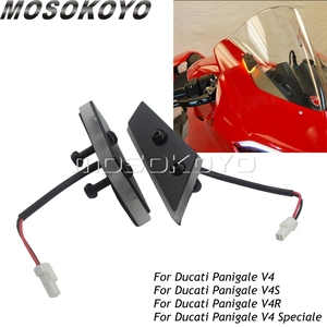 For Ducati Panigale V4 Speciale  Motorcycle Front LED Mirror Block Off Turn Signals Indicator Light For Ducati Panigale V4 S / R -