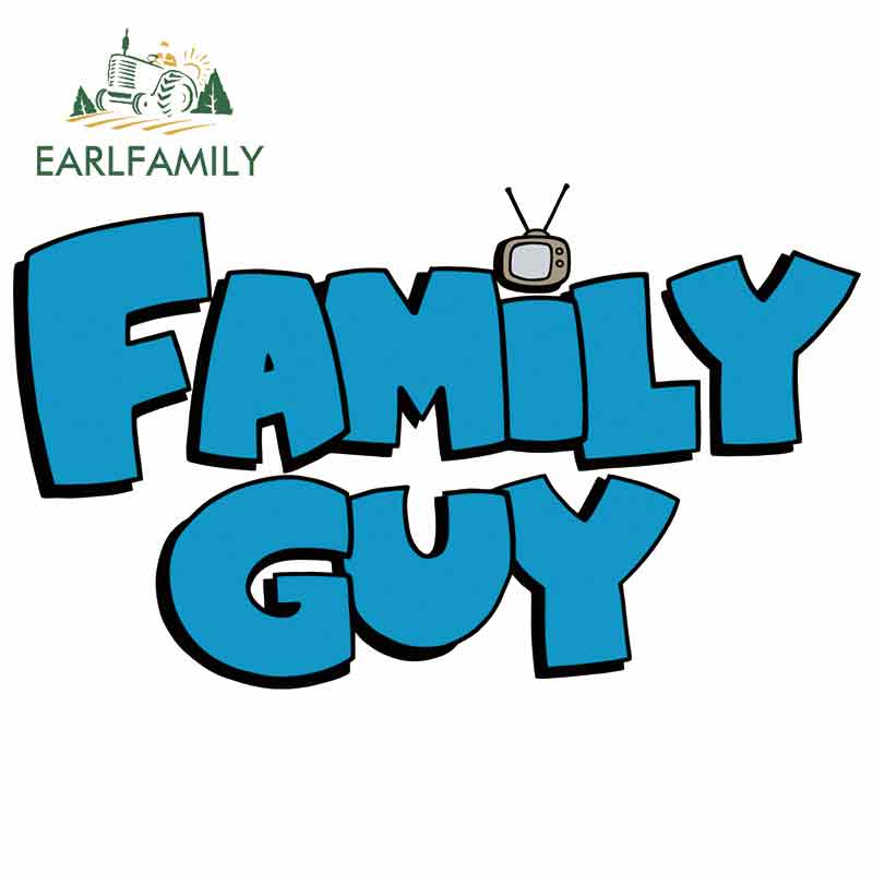EARLFAMILY 13cm X 7.8cm Car Decals For Family Guy Logo Fine Stickers Vinyl Car Wrap Waterproof Air Conditioner Creative Sticker