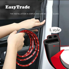 Rubber Car Door Seal Strip Sealer Trunk Edge Seal Strips Soundproofing Weatherstrip For Toyota Camry 2020 2019 2018 Accessrioes car door rubber seal strip car sealer trunk edge strip soundproofing weatherstrip for toyota corolla 2019 2020 accessories e120