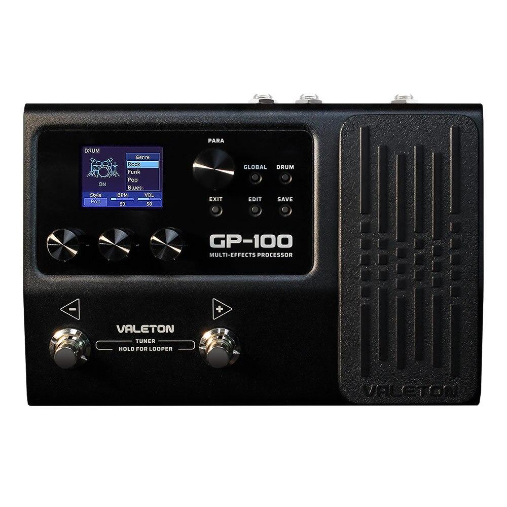 Valeton гитара Мульти процессор эффектов для езды на велосипеде с 140 встроенный эффектов Лупер ИК USB OTG мульти Язык выражение ПЕДА GP-100