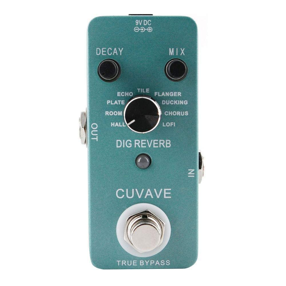 CUVAVE DIG Reverb Guitar Effect Pedal With 9 Reverb Types True Bypass Effects