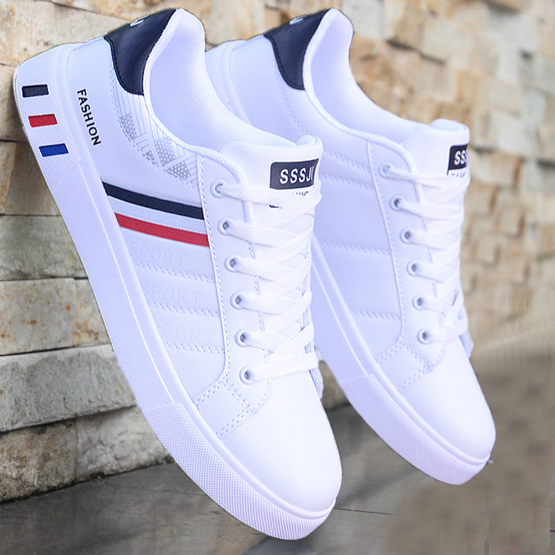 2020 New White Casual Shoes Men Leather Sneakers Male Comfort Sport Running Sneaker Man Tenis Mocassin Fashion Breathable Shoes