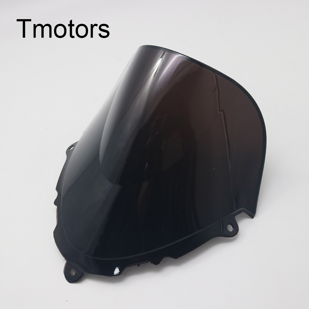 Motorcycle Windshield Fits for 1998 1999 2000 2001 2002 2003 2004 2005 2006 2007 2008 Suzuki Katana 600 750 GSX600F GSX750F Black Double Bubble Replacement Front Windscreens