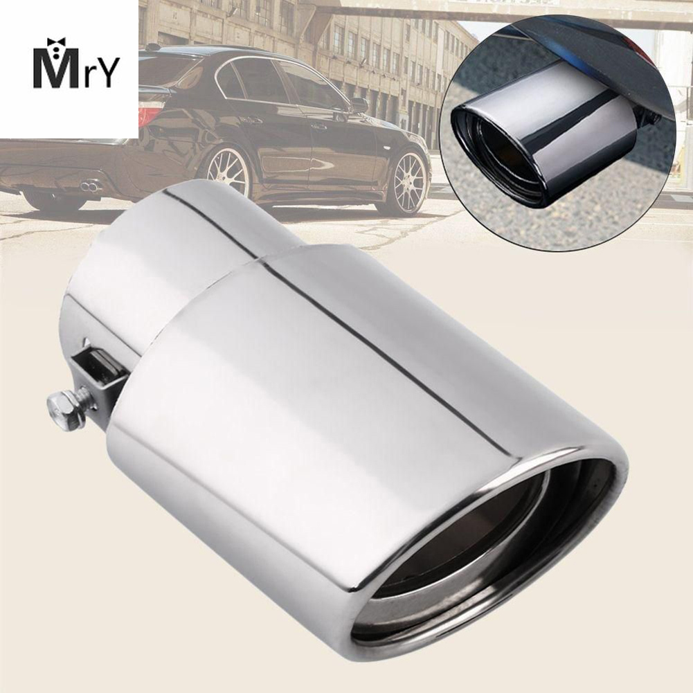 Universal Chrome Tail Muffler Tip Stainless Steel Car Rear Round Exhaust Pipe
