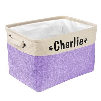 Personalized Pet Toy Storage Canvas Basket   9