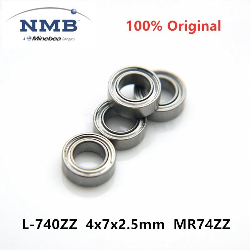 50pcs Original NMB Minebea  L-740ZZ 4x7x2.5mm MR74ZZ ABEC-5 High Speed Miniature Deep Groove Ball Bearing 4*7*2.5