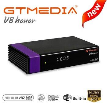 GTMEDIA V8 Honor DVB-S2 Freesat Satellite TV Receiver FTA Decoder Support PowerVu Biss Key Support cline same as gtmedia V8 nova [genuine]dmyco v9s pro usb wifi dvb s2 satellite tv receiver support powervu bisskey necamd youtube youporn pk v8 super