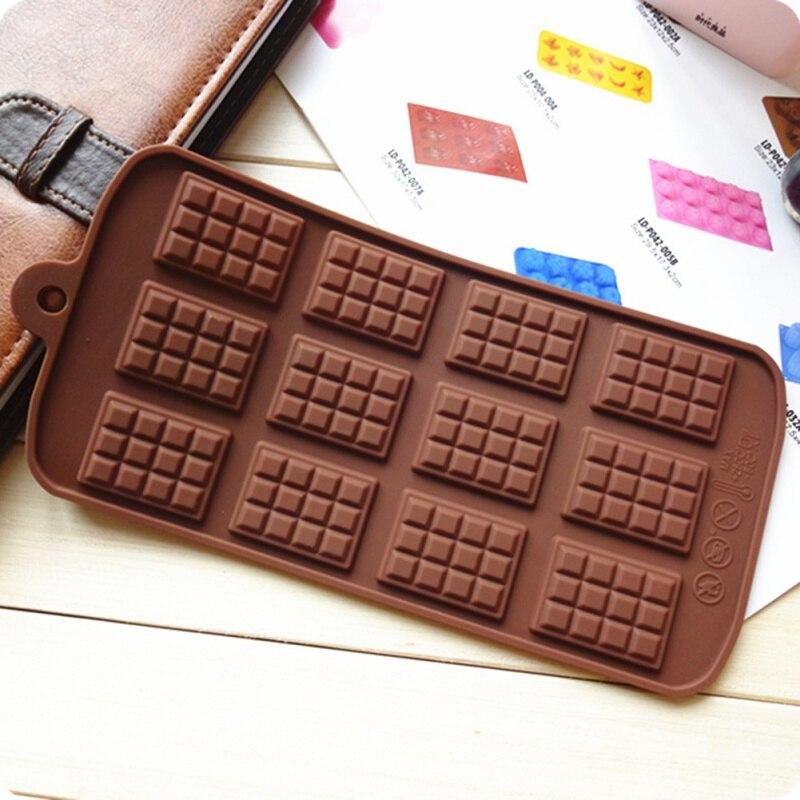 Silicone mini chocolate bar mold christmas Fondant Bakeware Cake Molds Non-stick 3D Decoration DIY Kitchen Baking Accessories