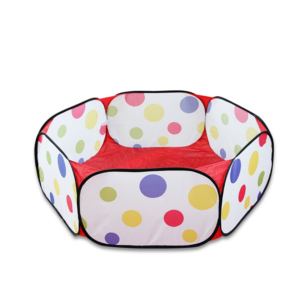 Foldable <font><b>Baby</b></font> Playpen Hexagon Polka Dot <font><b>Balls</b></font> <font><b>Pool</b></font> Pit Indoor Outdoor Children <font><b>Baby</b></font> Toy Game Play House Kids Gift Play Tent image
