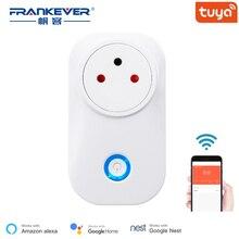 FrankEver Tuya Cloud 10A 16A inteligentne gniazdo WiFi moc izrael Monitor bezprzewodowa wtyczka praca z Alexa Google Home inteligentne gospodarstwo domowe