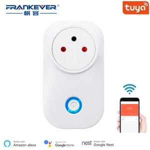 Image 1 - Frankever tuya nuvem 10a 16a wifi inteligente tomada de energia israel monitor sem fio plug trabalho com alexa google casa inteligente doméstico