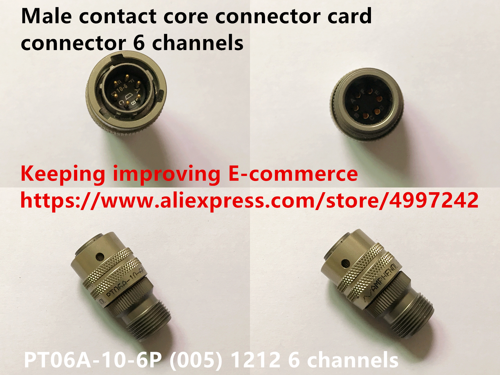 Original New 100% US Import PT06A-10-6P (005) 1212 Male Contact Core Connector Card Connector 6 Channels