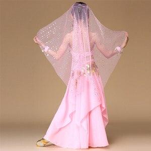 Image 5 - 5 pz/set Rosa Dei Capretti di Stile di Danza Del Ventre Costume di Danza Orientale Costumi di Danza Del Ventre Vestiti Ballerino Costumi di Danza Indiana Per I Bambini