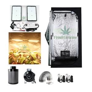 Последний Samsung LM301B Meanwell HLG-240-48B драйвер 240 Вт Светодиодная панель с 80*80*160 см набор палаток для выращивания внутри