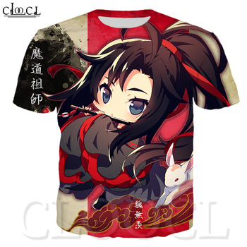 CLOOCL Popular T Shirt Anime MO DAO ZU SHI 3D Print Men/Women Fashion Unisex T-shirt Harajuku Shirts Tops