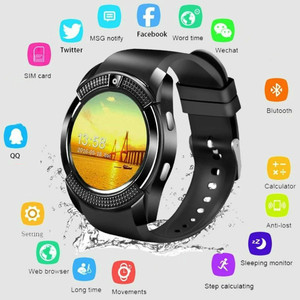 New Waterproof Smart Watch V8 Men Bluetooth Sport Women Wrist Watch PK DZ09 with Camera/SIM Card Slot Android Phone SmartWatch