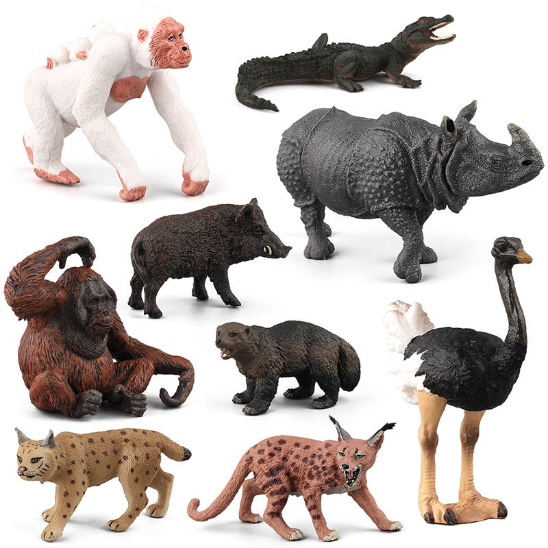 Kids Toy Action-Figure-Toys Figurine Lynx Wild-Boar-Model Crocodile Dolls Simulation