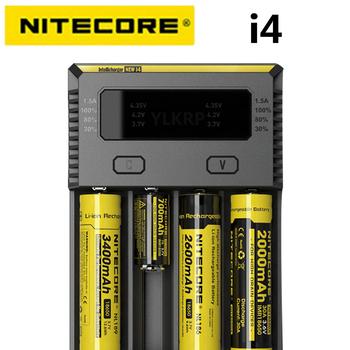 100 oryginalny Nitecore nowy I4 Digicharger ładowarka Nitecore ładowarka do 26650 18650 18350 16340 14500 10440 tanie i dobre opinie CN (pochodzenie) Electric Rohs NEW I4 Standard Battery