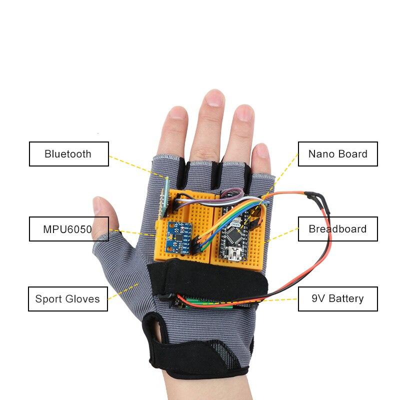 Kit de iniciación gestual-Motion para Arduino Nano V3.0, Robot Educativo Stem Cars, juguetes MPU6050, módulo giroscopio acelerómetro de 6 ejes