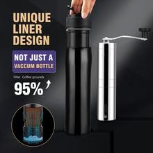 Mug Coffee-Maker French-Press Portable Stainless-Steel Travel Insulated Vacuum DIY Premium