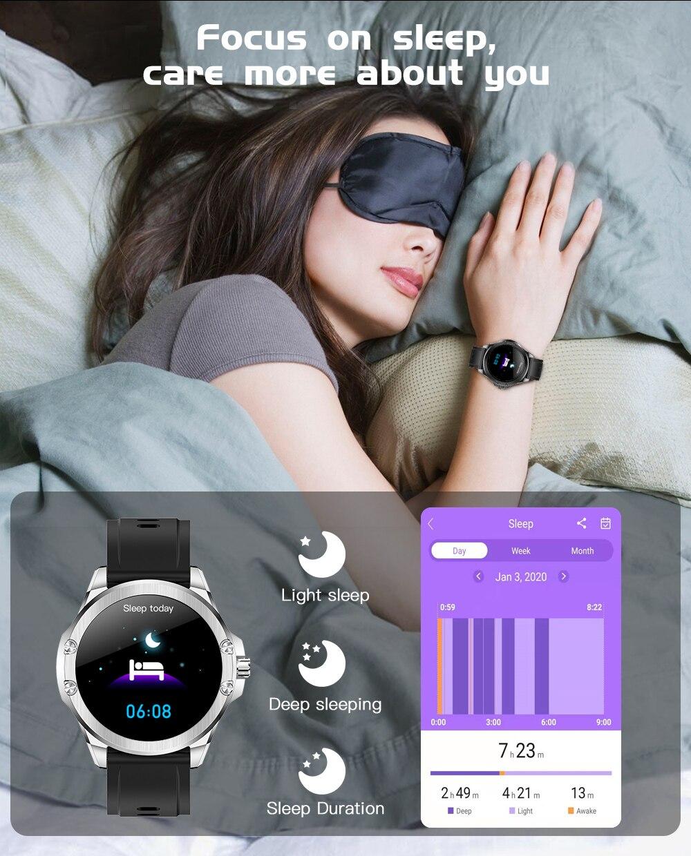 Hfd34b36925254c5f98b6ac993931582af CYUC S11 Smart watch men HD Full round Screen IP68 Waterproof
