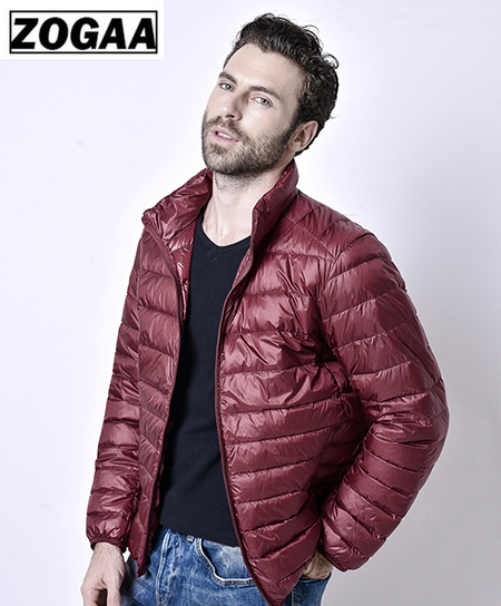 2019 Autumn And Winter Ultralight Male Jacket Goose Feather Plus Size Casual Short Jacket Men Down Jacket Wholesale