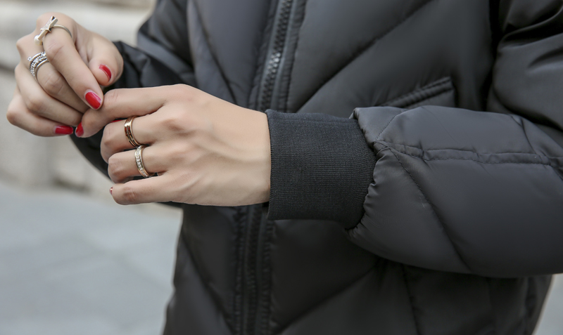 2019 High Quality Winter Jacket Women Hooded Fur Collar Warm Thicken F_B7_18