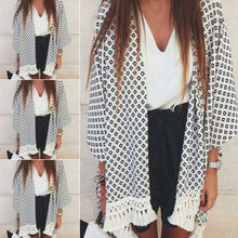 Goocheer Fashion Womens Loose Blouse Summer Boho Chiffon Coat Shawl Kimono Cardigan Tops