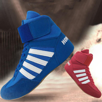 men,women,child boxing shoes Rubber outsole breathable Wrestling shoes Women wrestling costume shoes for wrestling