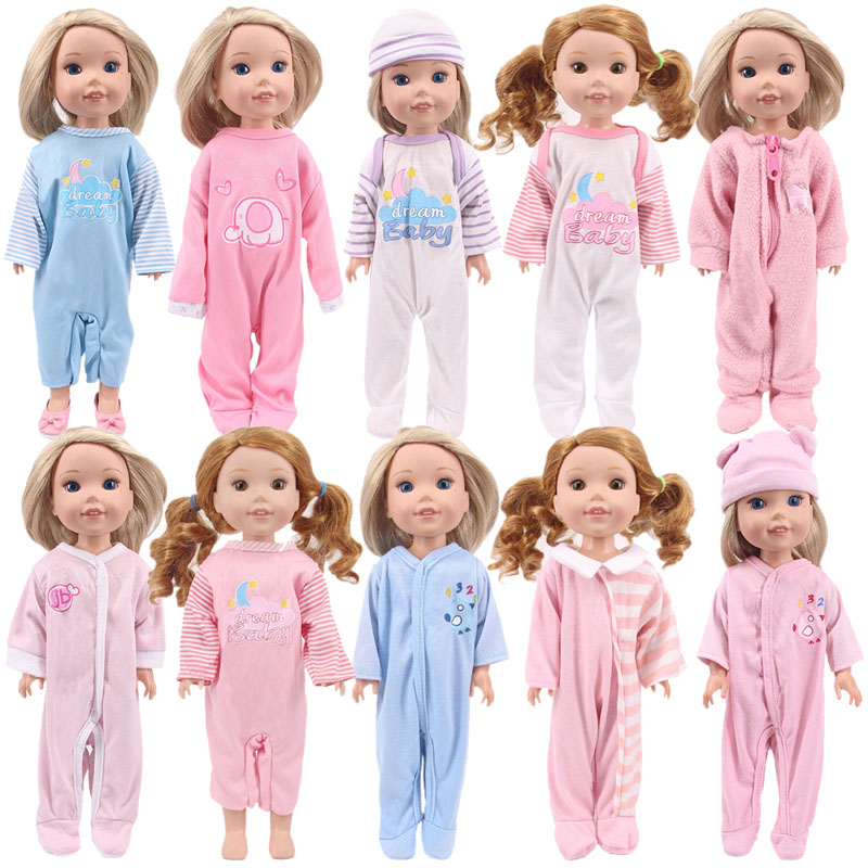 Doll 10 Styles Cute Pattern Pajamas, Shoes For 14.5 Inch Doll Wellie Wisher, Generation, Russian DIY Toy Birthday Girl's Gifts