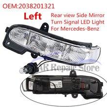 Nova oe 2038201321 porta esquerda para mercedes-benz e320 e500 traseira w211 e w463 vista do carro espelho lateral turn signal led luz a2038201321