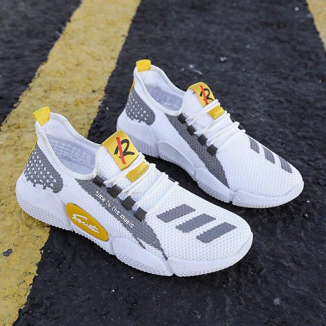Zapatillas de tenis transpirables para Hombre, zapatos masculinos ligeros y originales, color blanco, para caminar, talla grande, 2021 5