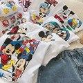 2021 летняя детская одежда, футболка для мальчиков и девочек, хлопковая футболка с коротким рукавом и мультяшным рисунком, Детская Повседневн...