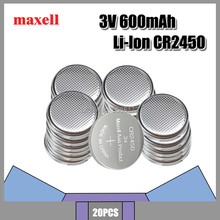 Maxell 20x 3V Lithium Coin Cells Button Battery CR2450 DL2450 BR2450 LM2450 KCR5029 EE6230 For LED Lights Toys Watches(China)