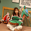 Cartoon sea land and air submarine sailboat tank rocket astronaut printing plush stuffed toy pillow sofa cushion Children's gift