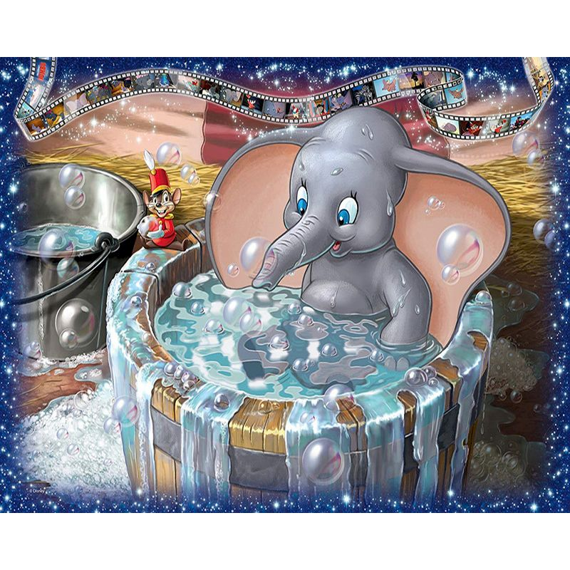 Diy Kit Painting By Number Elephant On Canvas Oil Picture Acrylic Paint For Adult Coloring By Number Cartoon Home Decor Art Gift