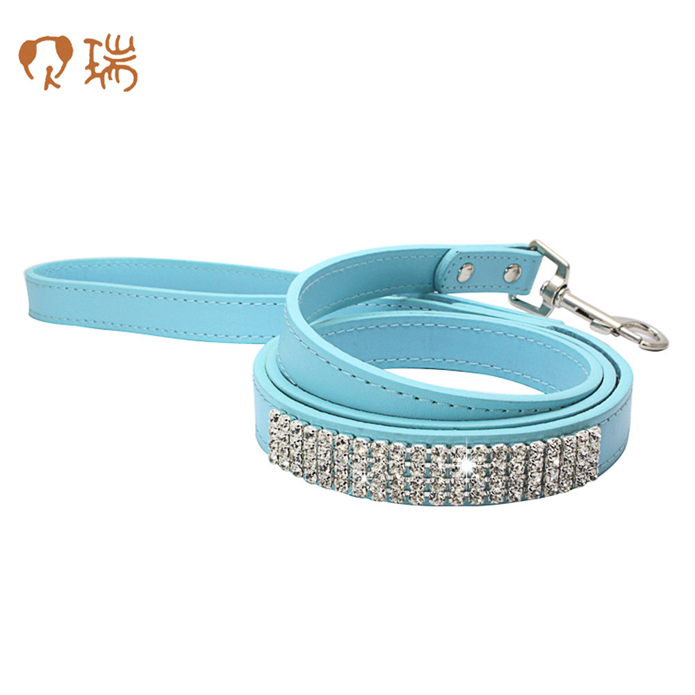Shiny Man-made Diamond Pet Traction Rope Sew Chain Rhinestone Dog Rope Rhinestones Dog Chain Berry Pet Supplies Amazon