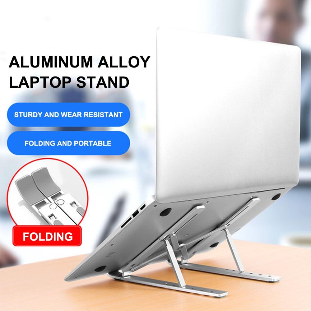 Folding Laptop Stand Holder Aluminum  Desk Stand Tablet Holder Laptop Computer Holder In Bed Home Office Laptop Support