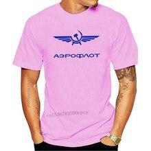 2020 Fashion Hot sale Aeroflot Airlines Vintage Retro Russia CCCP USSR Soviet T Shirt Distressed Tee shirt