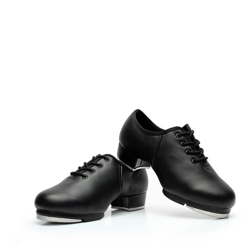 Adult Sports Dance Shoes Children Performance Tap Dance Shoes Soft Sole Imitation Leather Shoes Women Sneakers Dance Shoes