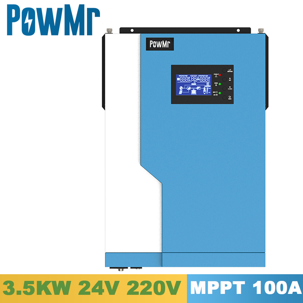3500w solar pura onda senoidal hibrido inversor 24v 220vac mppt 100a carregador solar pv 500v entrada