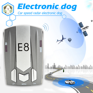 E8 V9 2020 Radar Detector English Russian Human Voice Auto Vehicle Speed Alert Warning X K Anti Radar Car Detector