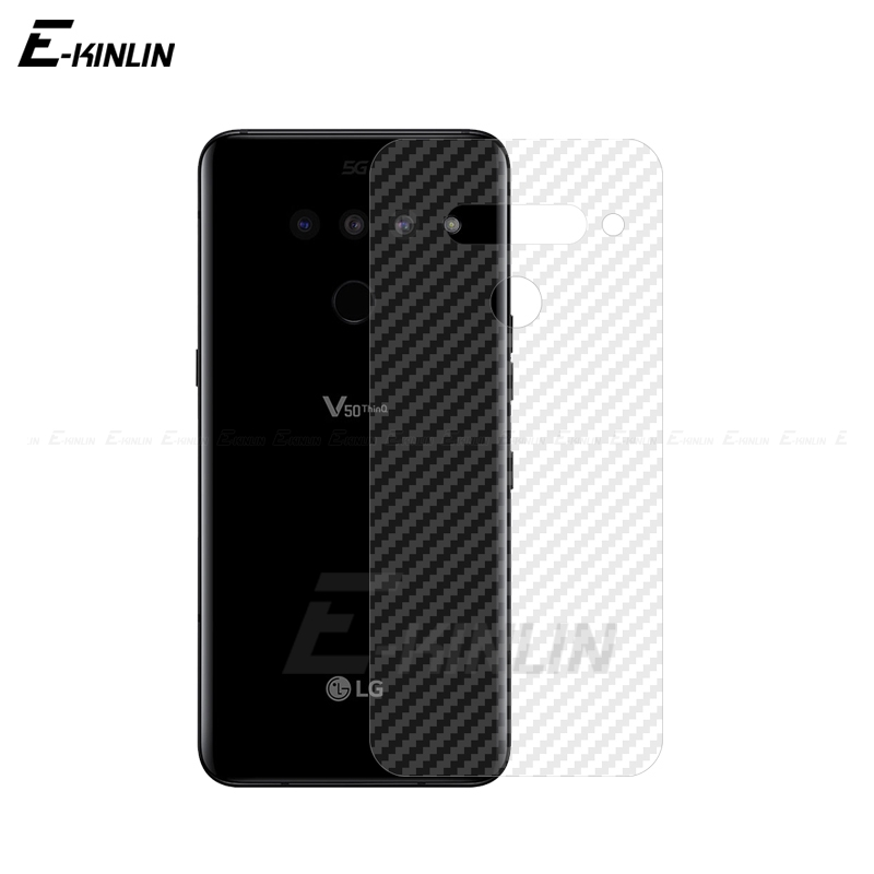Soft Carbon Fiber Protective Back Film For LG G8 G7 G8X ThinQ G6 V50S V50 5G V40 V30 V30S Plus Rear Screen Protector No Glass