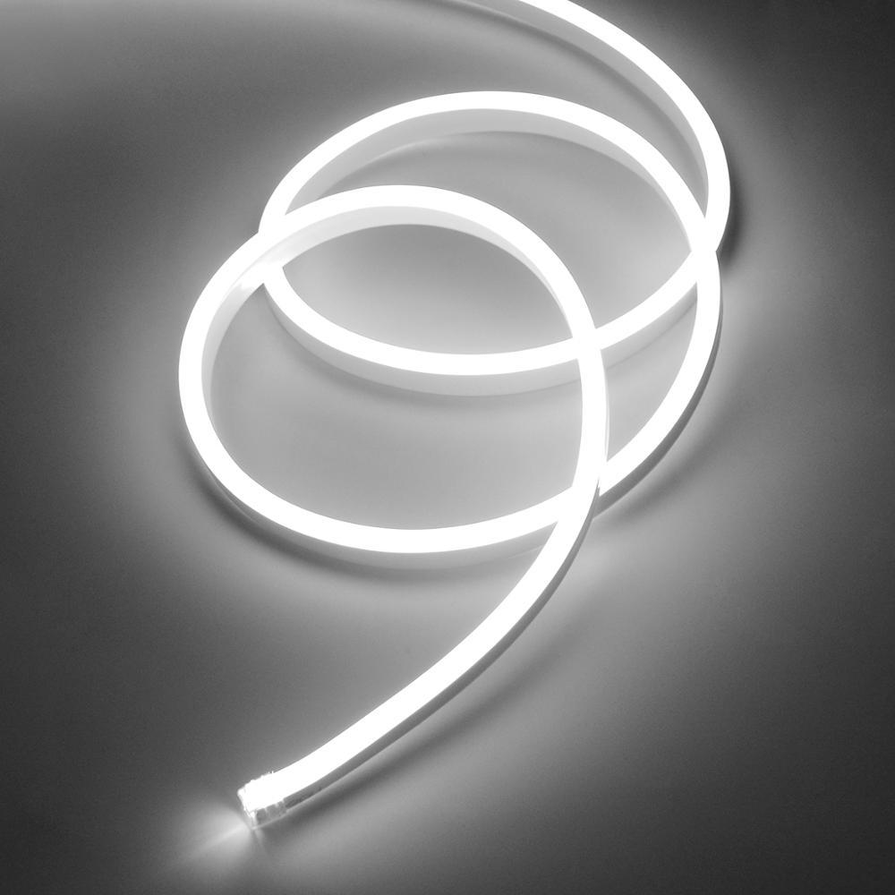 Неоновая Светодиодная лента 220 В, светодиодный неоновый светильник s, белый задний светильник, комнатный светильник, кухонный светодиодный ...