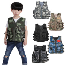 Tactical Military Vest Jacket Camouflage-Vest Army Hunting-Game Outdoor-Adventure Children