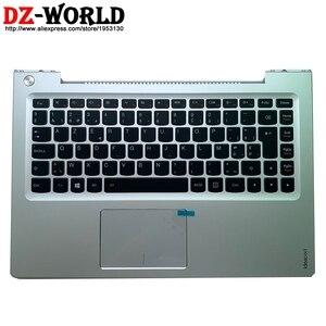 New/orig Palmrest Upper Case Belgium Backlit Keyboard Touchpad for Lenovo Ideapad U330 U330T U330P Laptop C Cover 90203465