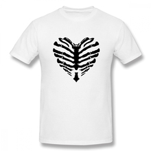 Men T-Shirts Summer Mens Basic Short Sleeve T-Shirt Casual Cotton Skeleton Rib Cage printing t shirt men tee 4XL 5XL