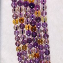 Натуральный Цитрин e бусины 6 мм 7 8 10 круглый камень кварц