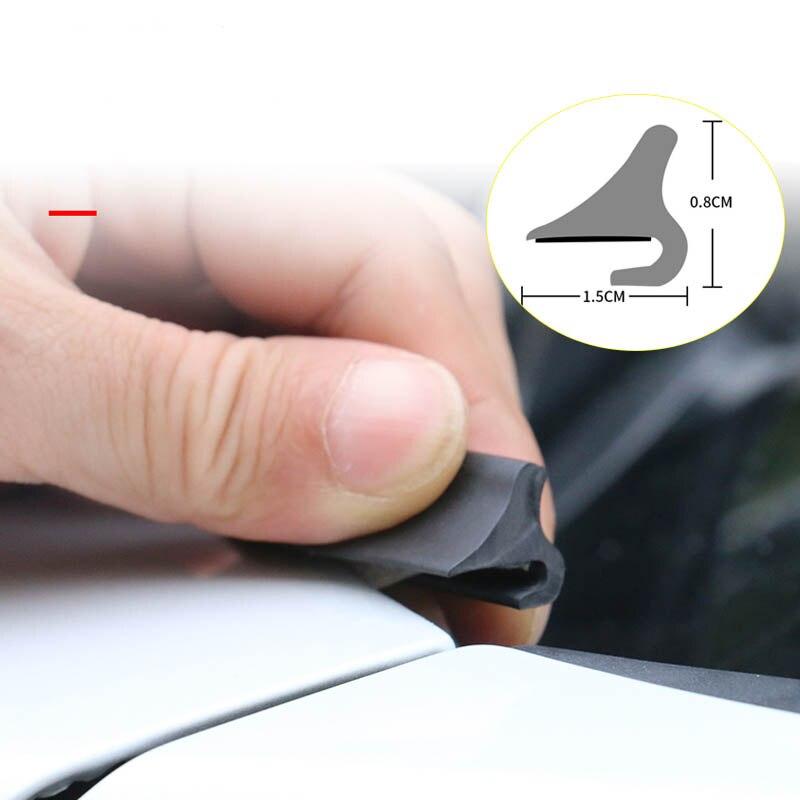 1,8 M sello de goma del coche sellador de la ventana del coche caucho techo Protector del parabrisas tiras de sellado para el alerón delantero trasero del parabrisas del coche