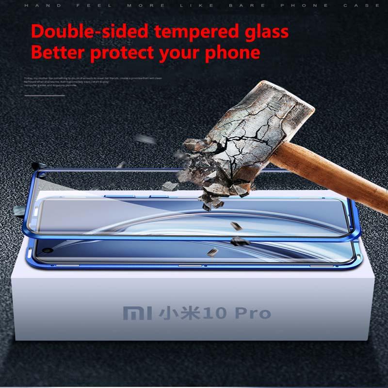 Magnetic Case For Xiaomi Mi 10 Pro Case 360 full Protection Glass Case For Xiaomi 10 Pro Mi10  Case with with camera lens film
